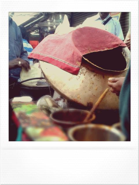 A famous street food vendor at Chandni Chowk, Old Delhi.