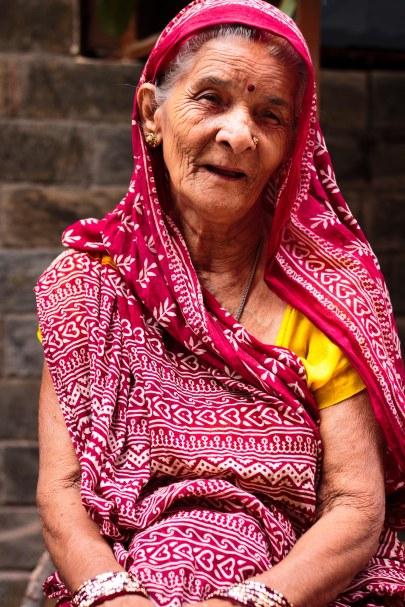 Grandma in traditional wear