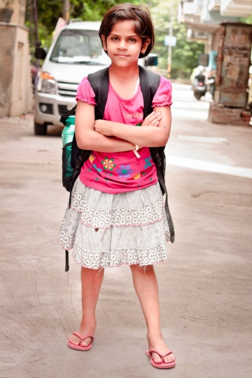 School Girl.  Shot with Canon 1100D